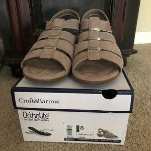 Taupe Ortholite Sandals